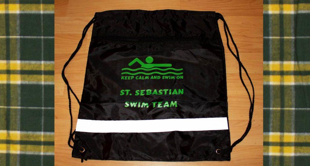 St Sebastian's Swim Team  drawstring bag
