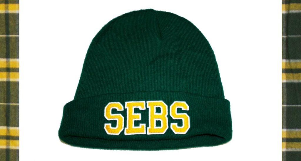 St Sebastian's Swim Team knit beanie