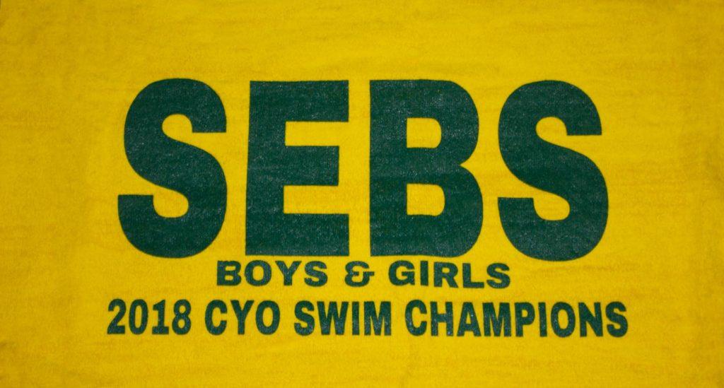 St Sebastian's Swim Team towel