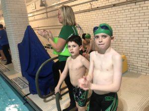 Sebs boys vs OLAN swim meet