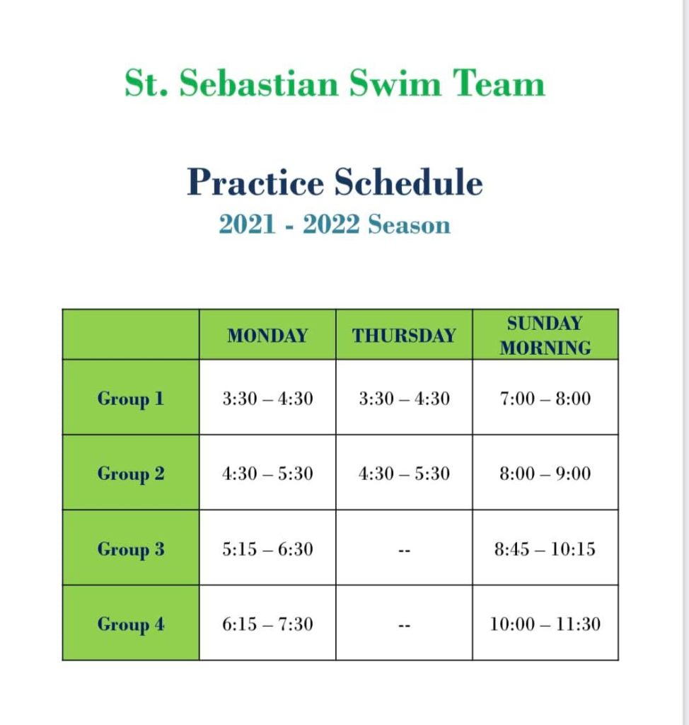 Updated Monday schedule for Group 3 & 4